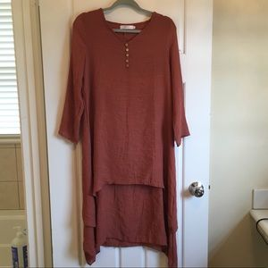 tunic with double overlay never worn